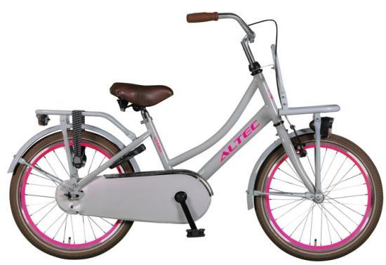zemto altec urban m dchenrad transportfahrrad grau pink. Black Bedroom Furniture Sets. Home Design Ideas